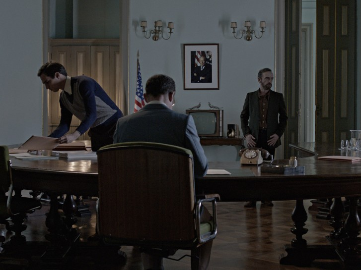 <p><em>The Secret Agent</em>, 2015</p><p>Six-channel video projection with sound</p>