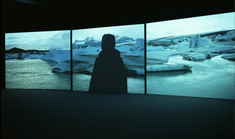 <p>Isaac Julien, True North, 2004<br /><i>Triple screen projection, 16mm black & white/colour film, DVD transfer with sound, Duration 14 min 20 sec</i></p>