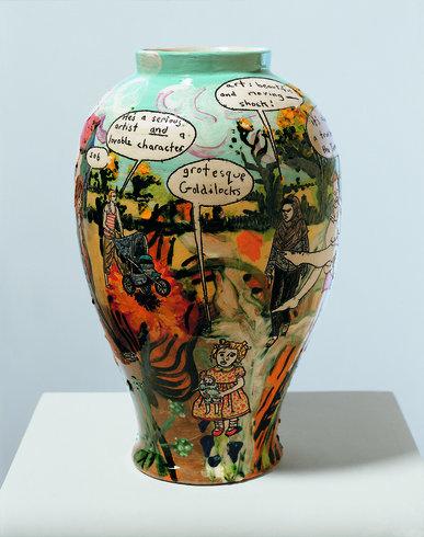 <p>Taste and Democracy, 2004<br /><i>Glazed ceramic, 41 x 26 cm</i></p>