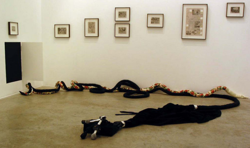 <p>Installation View, Christian Holstad,<i>Beautiful Lies You Could Live In</i>,Gallery I, Victoria Miro, 16 Wharf Road London N1 7RW, 2005</p>