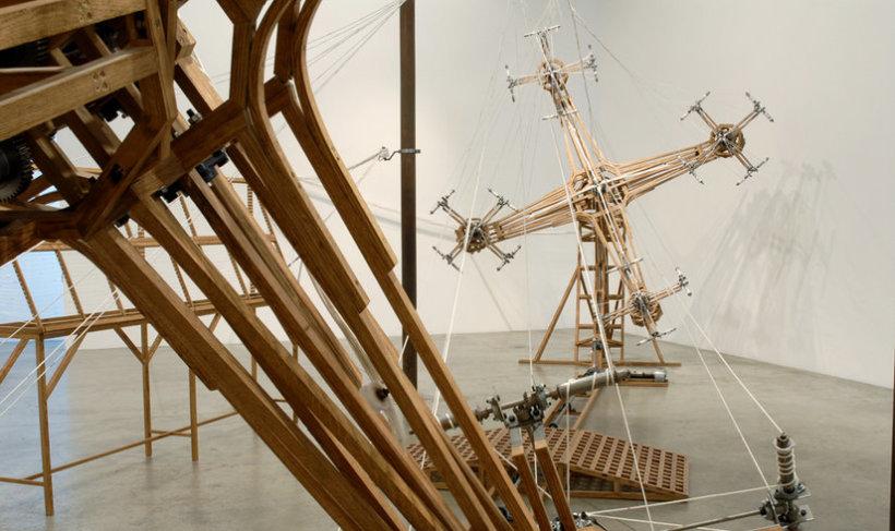 <p>Installation View, Conrad Shawcross,&#160;<em>No Such Thing As One</em>, Gallery I, Victoria Miro, 16 Wharf Road London N1 7RW, 2006</p>