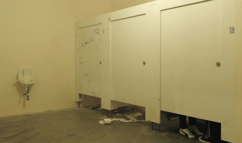 <p>When Privacy has to be held in, 2008<br /><i>Toilet cubicles, toilets, mannequins, 202 x 400 x 100 cm 79.5 x 157.5 x 39.4 in</i></p>