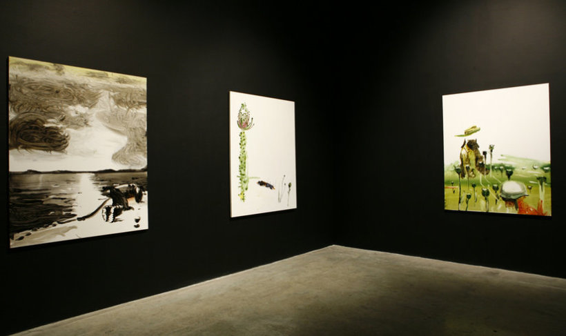 "<p><span style=""line-height: 1.5em;"">Installation View, John Kørner,<em>War Problems</em>, Gallery I, Victoria Miro,</span><span style=""line-height: 1.5em;"">16 Wharf Road, London, N1 7RW, 2008</span></p>"