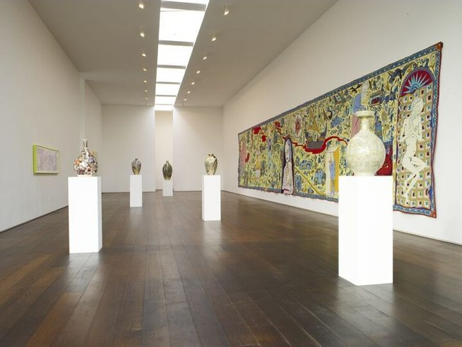 "<p><span style=""line-height: 1.5em;"">Installation View, Grayson Perry, <em>The Walthamstow Tapestry</em>,</span><span style=""line-height: 1.5em;""> Gallery II, Victoria Miro, 16 Wharf Road, London, N1 7RW, 2009</span></p>"