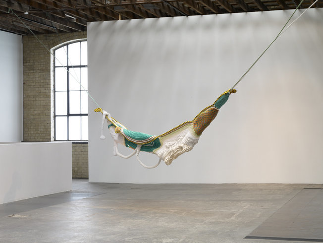 <p>Untitled, 2010<br /><em>Sewn ropes and beads, 440 x 170 x 1230 cm 173.2 x 66.9 x 484.3 in</em></p>