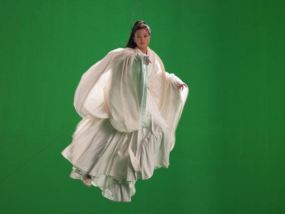 "<p>Green Screen Goddess (Ten Thousand Waves), 2010<br /><em>Endura Ultra photograph, 180 x 239.8 x 7.5 cm<span style=""line-height: 1.5em;"">70 7/8 x 94 3/8 x 3 in</span></em></p>"