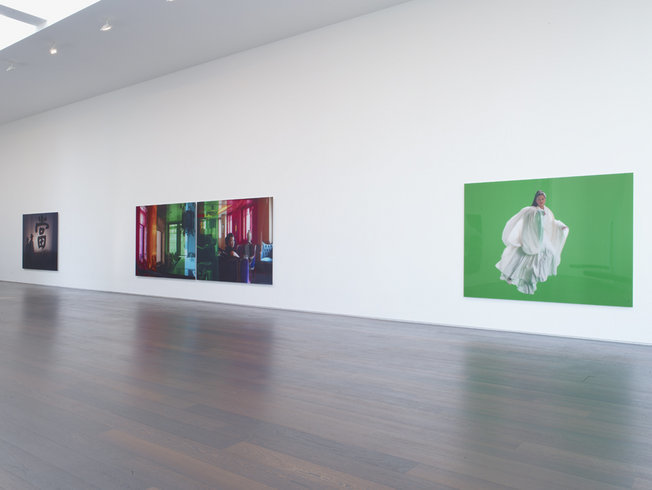 <p>Installation View, Isaac Julien, <i>Ten Thousand Waves</i>, Gallery II, Victoria Miro, 16 Wharf Road, London, N1 7RW, 2010</p>