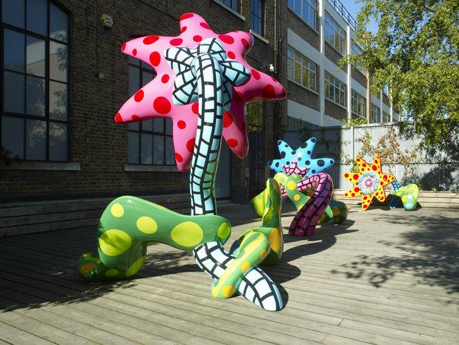 <p>Installation View, Yayoi Kusama,&#160;<i>Flowers That Bloom Tomorrow&#160;</i>,&#160;Victoria Miro Garden, 16 Wharf Road, London, N1 7RW, 2010</p>