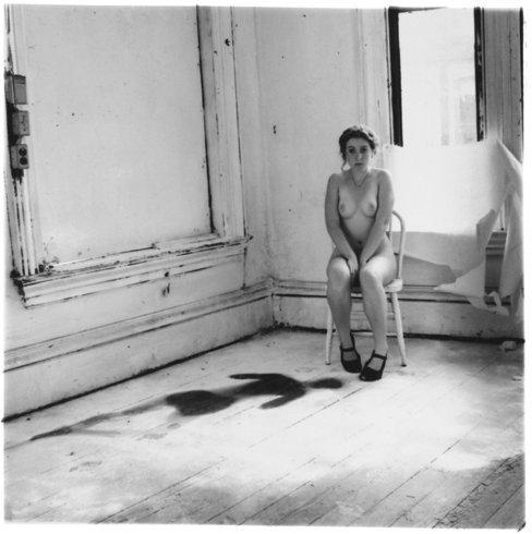 "<p>Untitled, Providence, Rhode Island, 1975-1978<br /> <em>Gelatin silver estate print,<span style=""line-height: 1.5em;"">20.3 x 25.4 cm</span><span style=""line-height: 1.5em;"">8 x 10 in</span></em><br /><em>© The Estate of Francesca Woodman, Courtesy George and Betty Woodman and Victoria Miro Gallery</em><br /><em><br /></em></p>"