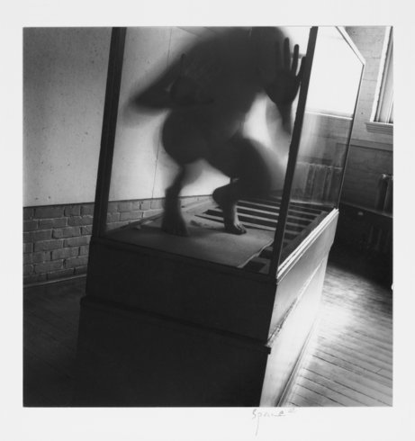 """<p>Untitled, Providence, Rhode Island, 1975-1978 <br /><em style=""""line-height: 1.5em;"""">Gelatin silver estate print,<span style=""""line-height: 1.5em;"""">20.3 x 25.4 cm</span><span style=""""line-height: 1.5em;"""">8 x 10 in</span></em><br /><em>© The Estate of Francesca Woodman, Courtesy George and Betty Woodman and Victoria Miro Gallery</em></p>"""