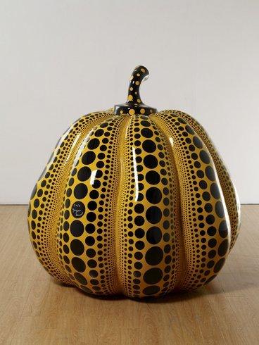"<p>Pumpkin, 2011<br /><em>Fiberglass Reinforced Plastic, metal, urethane paint,<span style=""line-height: 1.5em;"">120 x 120 x 120 cm</span><span style=""line-height: 1.5em;"">47 1/4 x 47 1/4 x 47 1/4 in</span></em></p>"