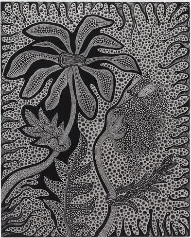 "<p>Heart Flowers, 2011<br /><em>Acrylic on canvas,<span style=""line-height: 1.5em;"">162 x 130.3 x 6 cm</span><span style=""line-height: 1.5em;"">63 3/4 x 51 1/4 x 2 3/8 in</span></em></p>"