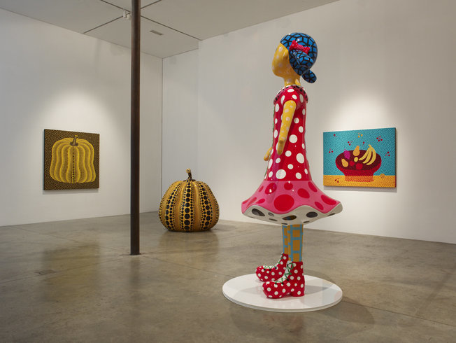 <p>Installation View, Yayoi Kusama, <em>New Paintings & Sculptures</em>, Gallery I, Victoria Miro, 16 Wharf Road, London, N1 7RW, 2011</p>