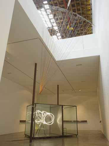 <p>Installation View, Conrad Shawcross,&#160;<em>Sequential</em>, Gallery I, Victoria Miro, 16 Wharf Road, London, N1 7RW, 2011</p>