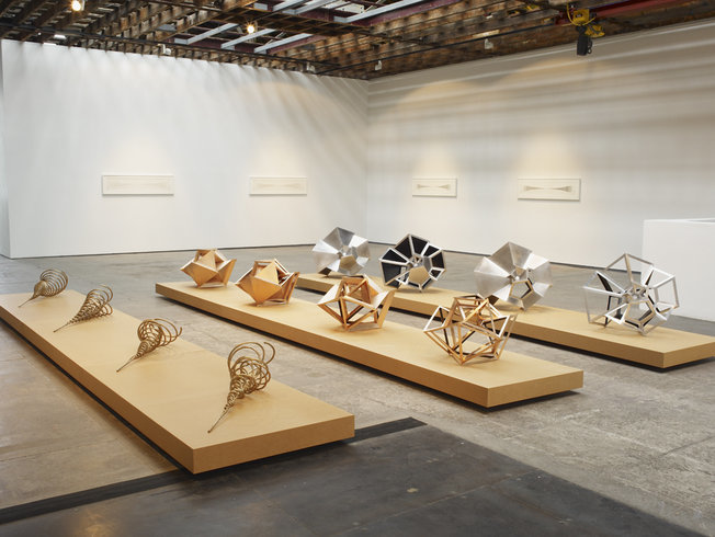 <p>Installation View, Conrad Shawcross, <em>Sequential</em>, Gallery I, Victoria Miro, 16 Wharf Road, London, N1 7RW, 2011</p>