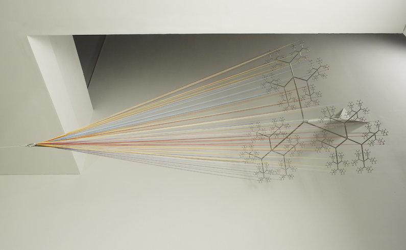 "<p>Skein Cone, 2011<br /><em>Steel, aluminium, wool,<span style=""line-height: 1.5em;"">500 x 220 x 220 cm</span><span style=""line-height: 1.5em;"">196 7/8 x 86 5/8 x 86 5/8 in</span></em></p>"