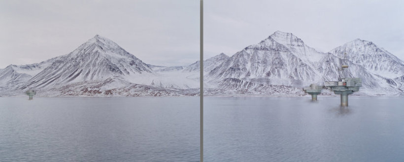 <p>A city in my mind, 2011<br /><em>Constructed mixed media on C-type photograph, Diptych, left panel 90 x 110 cm, right panel 90 x 110 cm</em></p>