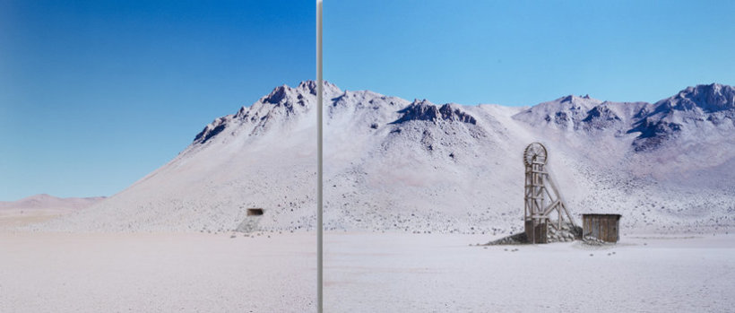 <p>Whatever happens is fine, 2011<br /><em>Constructed mixed media on C-type photograph, Diptych, left panel 90 x 90 cm, right panel 90 x 116.5 cm</em></p>
