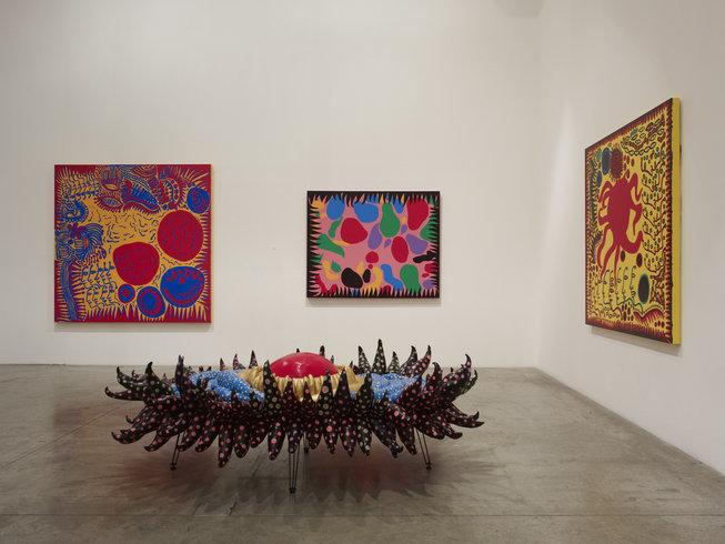 "<p><span style=""line-height: 1.5em;"">Installation View, Yayoi Kusama</span><span style=""line-height: 1.5em;"">,<em>New Works</em>,Gallery I, Victoria Miro, 16 Wharf Road London N1 7RW, 2012</span></p>"