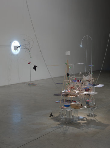 "<p><span style=""line-height: 1.5em;"">Installation View, Sarah Sze</span><span style=""line-height: 1.5em;"">, Gallery I, Victoria Miro, 16 Wharf Road London N1 7RW, 2012</span></p>"