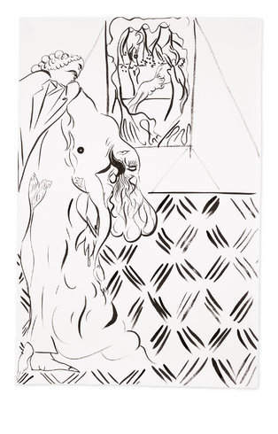 """<p>Study for Ovid-Desire, 2012<br /><em>Ink on paper,<span style=""""line-height: 1.5em;"""">79 x 52 cm</span><span style=""""line-height: 1.5em;"""">31 1/8 x 20 1/2 in</span></em></p>"""
