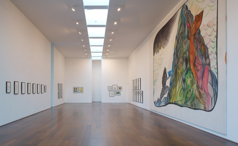 """<p><span style=""""line-height: 1.5em;"""">Installation View,Chris Ofili</span><span style=""""line-height: 1.5em;"""">,</span><i style=""""line-height: 1.5em;"""">to take and to give</i><span style=""""line-height: 1.5em;"""">, Gallery II, Victoria Miro, 16 Wharf Road London N1 7RW, 2012</span></p>"""