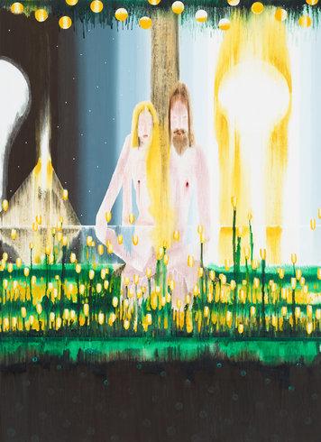 "<p>Creation of Eve, 2013<br /><em>Acrylic on linen,<span style=""line-height: 1.5em;"">129.5 x 177.8 cm</span><span style=""line-height: 1.5em;"">51 x 70 in</span></em></p>"