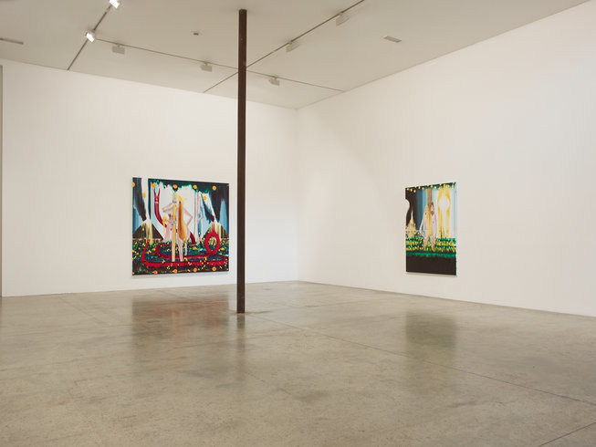 <p>Installation View, Barnaby Furnas, <em>The first and last day</em>, Gallery I, Victoria Miro, 16 Wharf Road London N1 7RW, 2013</p>