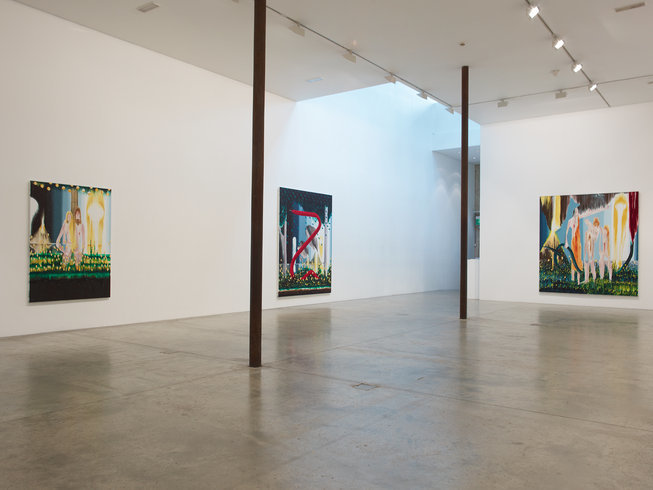 <p>Installation View, Barnaby Furnas,<em>The first and last day</em>, Gallery I, Victoria Miro, 16 Wharf Road London N1 7RW, 2013</p>
