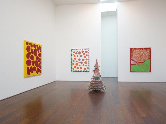 <p>Installation View, <em>Yayoi Kusama</em>, Gallery II, Victoria Miro, 16 Wharf Road London N1 7RW, 2013</p>