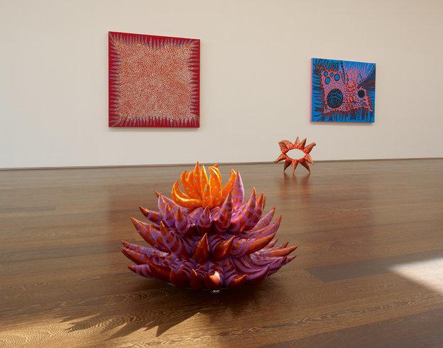 <p>Installation View,<em>Yayoi Kusama</em>, Gallery II, Victoria Miro, 16 Wharf Road London N1 7RW, 2013</p>