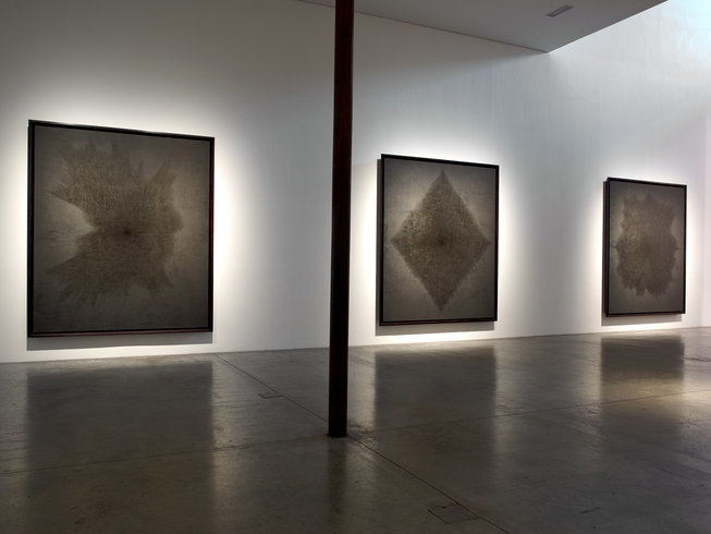 <p>Installation View, Idris Khan, <em>Beyond the Black</em>, Gallery I, Victoria Miro, 16 Wharf Road London N1 7RW, 2013</p>