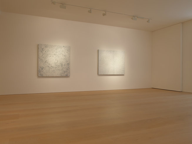 <p>Installation View, Yayoi Kusama, <em>White Infinity Nets</em>, Victoria Miro Mayfair, 14 St George Street, London W1S 1FE, 2013</p>