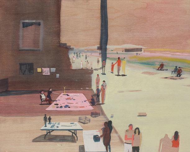 <p>Boardwalk Barter, 2013<br /><em>Oil on panel,40.6 x 50.8 x 5.1 cm16 x 20 x 2 in</em></p>