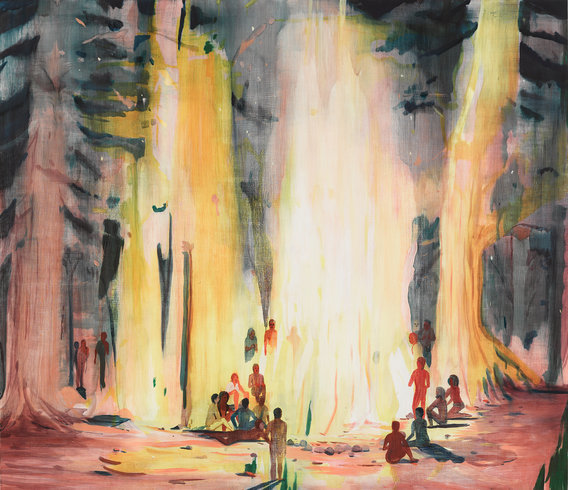 """<p>Firepeople, 2013<br /><em>Oil on panel,<span style=""""line-height: 1.5em;"""">167.6 x 193 x 6.3 cm</span><span style=""""line-height: 1.5em;"""">66 x 76 x 2 1/2 in</span></em></p>"""
