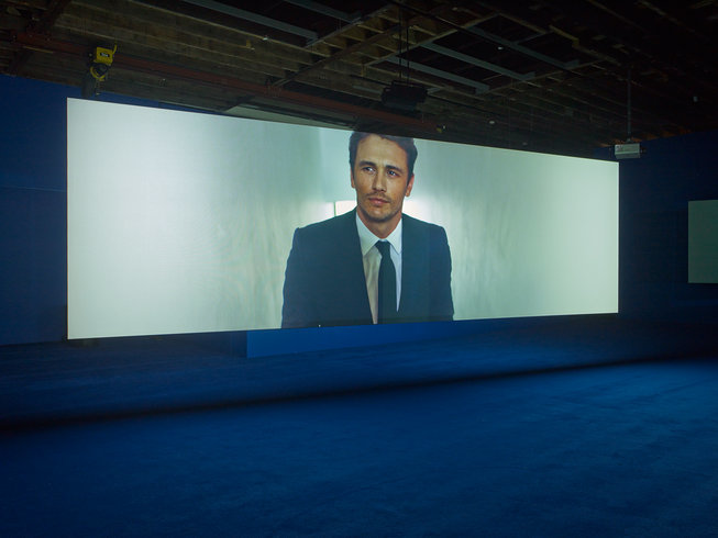 <p>PLAYTIME, 2014<br /><em>Seven-screen HD video installation with 7.1 surround sound, Duration 69 min, 47 sec, Installation View Victoria Miro Wharf Road, 2014</em></p>