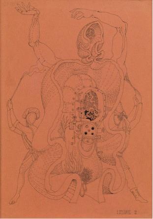 Anatoli Brussilovsky Torture 1968 Artworks Aktis Gallery