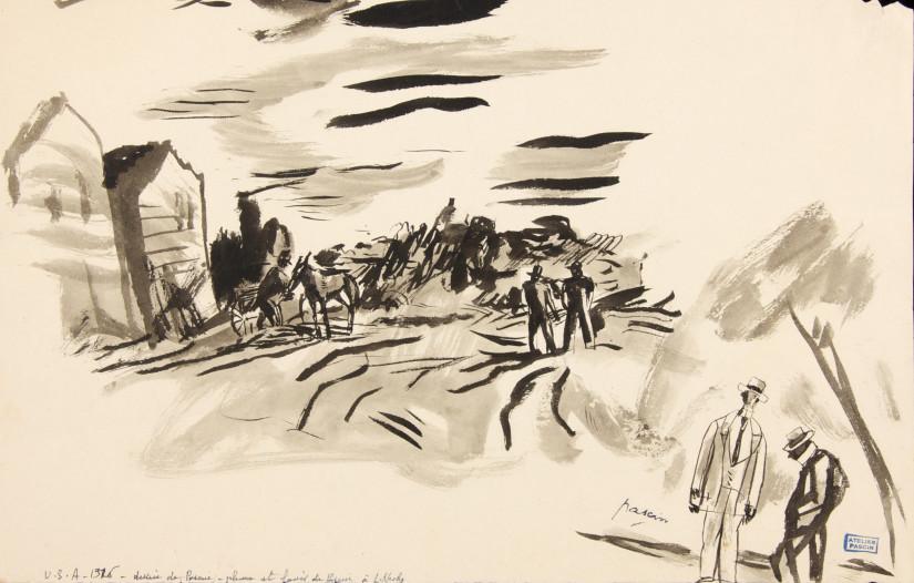 Jules Pascin, Men, 1916