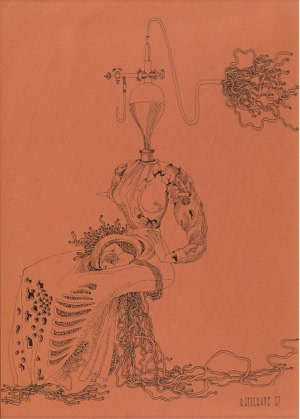 Anatoli Brussilovsky, Surreal Character, 1967