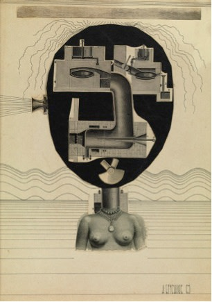 Anatoli Brussilovsky, Surreal Face, 1965