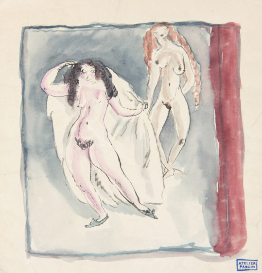 Jules Pascin, The Veil