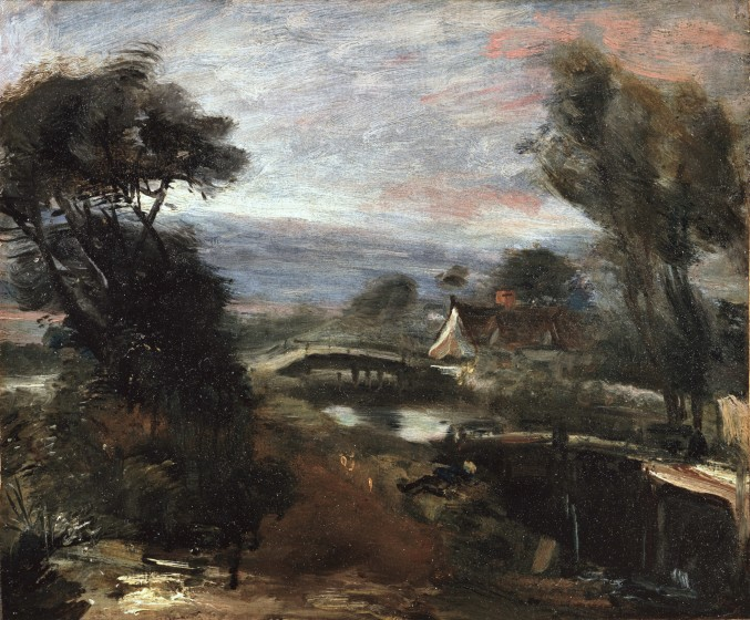 Study for Landscape - Boys Fishing at Flatford Lock