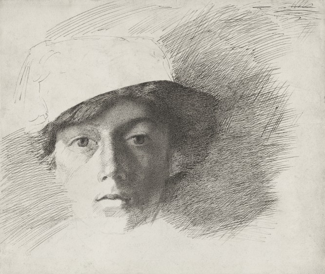 Self-Portrait as a Young Man wearing a Fez, 1845