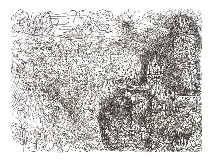 Paul Hawdon RE A View of Matera etching 50 x 60cm 5/40