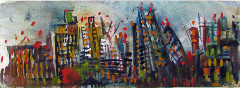 """<span class=""""artist""""><strong>Neil Pittaway RWS RE</strong></span>, <span class=""""title""""><em>The City of London at Night</em></span>"""