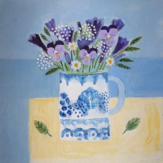 """<span class=""""artist""""><strong>Jill Leman PRWS</strong></span>, <span class=""""title""""><em>Summer Flowers</em></span>"""