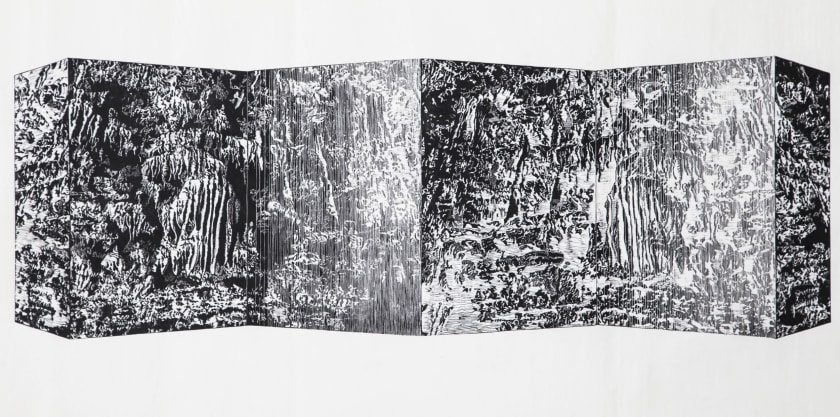 Mei Chen Tseng ARE The Book of Changes 64 Hexagram-43/44 wood engraving 70 x 120 cm 3/21