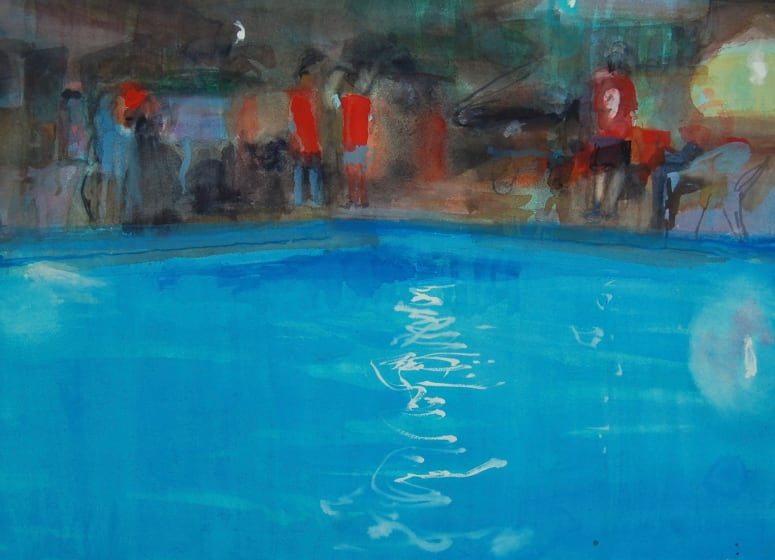 "<span class=""artist""><strong>Simon Pierse RWS</strong></span>, <span class=""title""><em>Pool Party</em></span>"