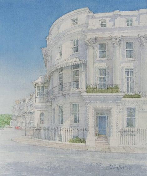 "<span class=""artist""><strong>Dennis Roxby Bott RWS</strong></span>, <span class=""title""><em>Arundel Terrace, Brighton</em></span>"