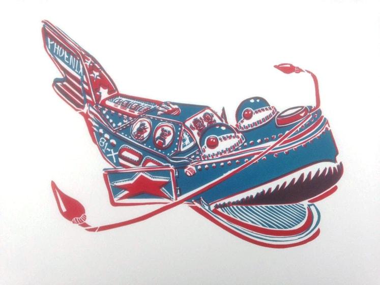 Fernando Feijoo RE Phoenix multi-block linocut 40 x 30cm 1/15